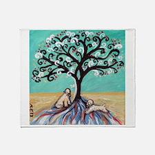 Wheaten Terriers Tree of Life Throw Blanket