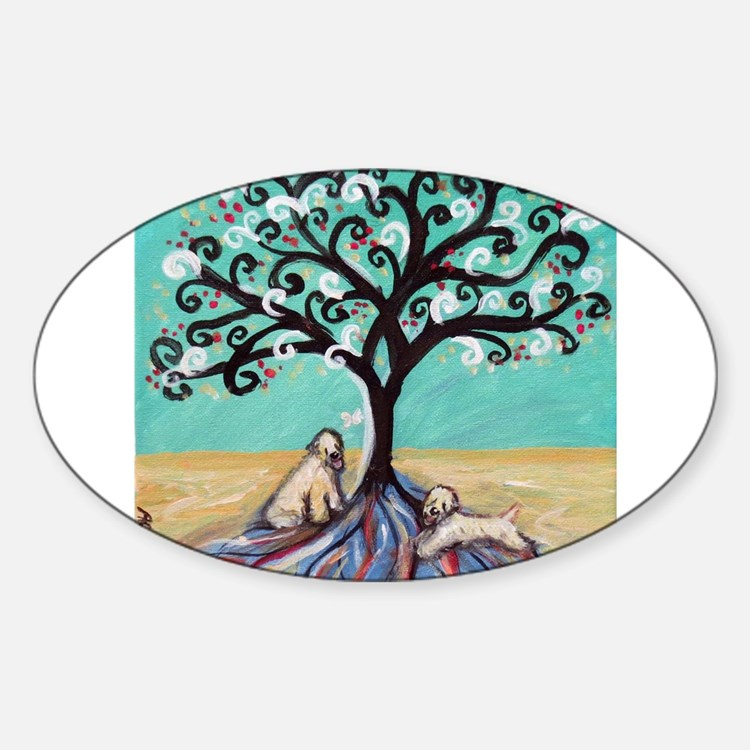 Wheaten Terriers Tree of Life Decal