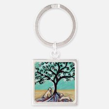 Wheaten Terriers Tree of Life Keychains