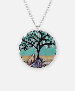 Wheaten Terriers Tree of Life Necklace