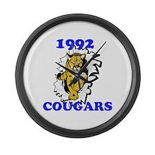 1992 Cougars Large Wall Clock