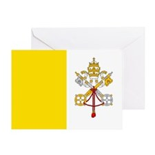 Vatican City Flag Greeting Card