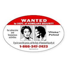 WANTED: Pinko Pelosi Oval Decal