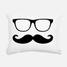 Glasses Mustache Rectangular Canvas Pillow