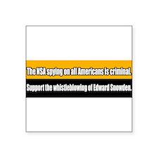 NSA Spying Edward Snowden Whistleblower Sticker