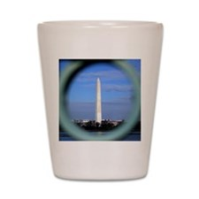 Washington Monument Through Fence Shot Glass