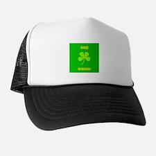Irish Trucker Green 4 Leaf Clover Trucker Hat