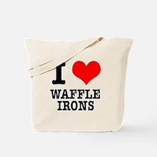 I Heart (Love) Waffle Irons Tote Bag
