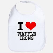 I Heart (Love) Waffle Irons Bib