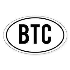 BTC Decalsticker (Oval)