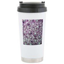 Purple Vintage Lace Pattern Travel Mug