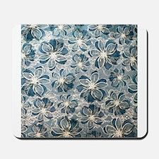 Tiffany Blue Vintage Lace Pattern Mousepad