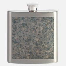 Tiffany Blue Vintage Lace Pattern Flask