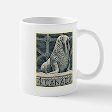 Vintage 1954 Canada Walrus Postage Stamp Mugs