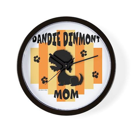 Dandie Dinmont Mom Wall Clock