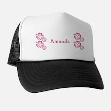 Pink Floral Hibiscus Reveal Custom Name Hat