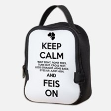 KEEP CALM FEIS ON Neoprene Lunch Bag