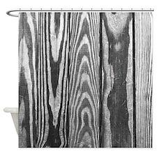Gray Wooden Patio Deck Photo Texture Shower Curtai