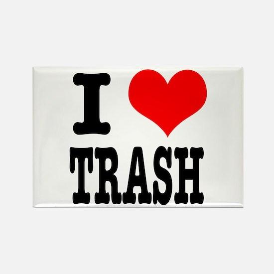 I Heart (Love) Trash Rectangle Magnet