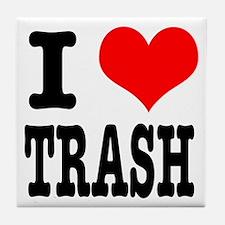 I Heart (Love) Trash Tile Coaster