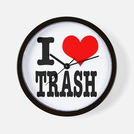 I Heart (Love) Trash Wall Clock