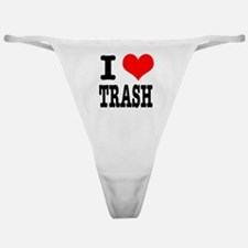 I Heart (Love) Trash Classic Thong