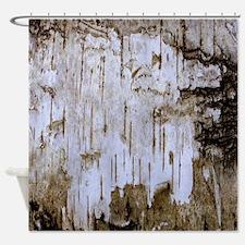 Brown Birch Tree Bark Photo Texture Shower Curtain