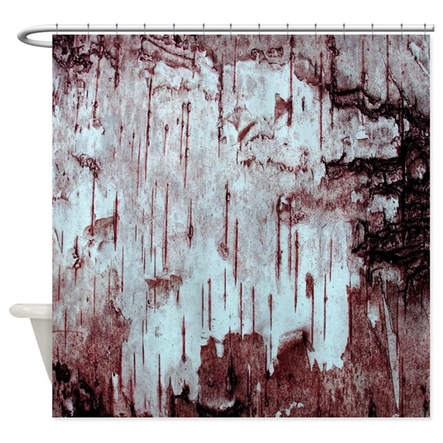 Red Birch Tree Bark Photo Texture Shower Curtain by ...