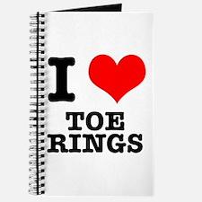 I Heart (Love) Toe Rings Journal