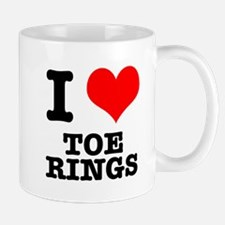 I Heart (Love) Toe Rings Mug