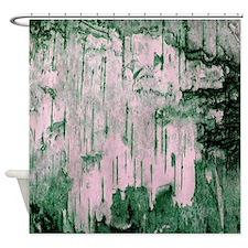 Green Birch Tree Bark Photo Texture Shower Curtain