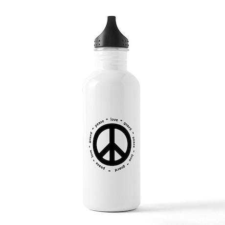 peace * love * guard Water Bottle