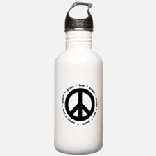 peace * love * guard Water Bottle