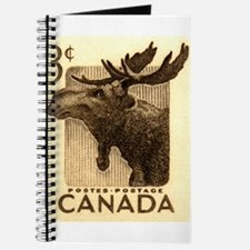 Vintage 1953 Canada Moose Postage Stamp Journal