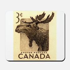 Vintage 1953 Canada Moose Postage Stamp Mousepad