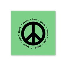 peace * love * guard (MINT) Sticker