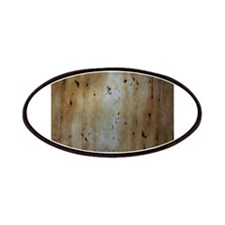 Orange Abstract Birch Tree Wooden Texture Patches
