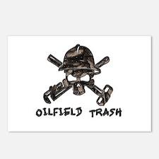 Riveted Metal Oilfield Trash Skull Postcards (Pack
