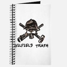 Riveted Metal Oilfield Trash Skull Journal