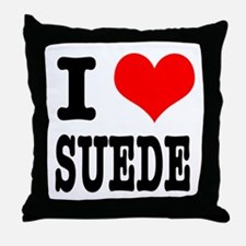 I Heart (Love) Suede Throw Pillow