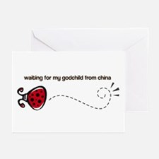 Waiting for my Godchild Greeting Cards (Package of