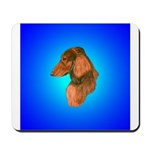 Long Coated Dachshund Profile Mousepad