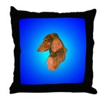 Long Coated Dachshund Profile Throw Pillow