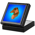 Long Coated Dachshund Profile Keepsake Box