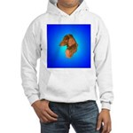 Long Coated Dachshund Profile Hooded Sweatshirt