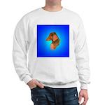 Long Coated Dachshund Profile Sweatshirt
