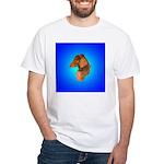 Long Coated Dachshund Profile White T-Shirt