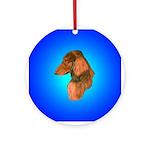 Long Coated Dachshund Profile Ornament (Round)