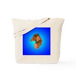 Long Coated Dachshund Profile Tote Bag