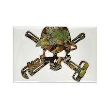 Camoflauge (Camo) Oilfield Skull Magnets